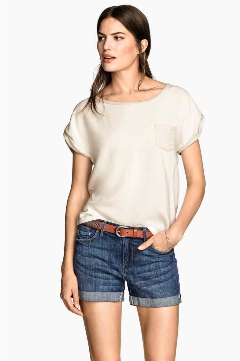Тениска с къс ръкав | H&M