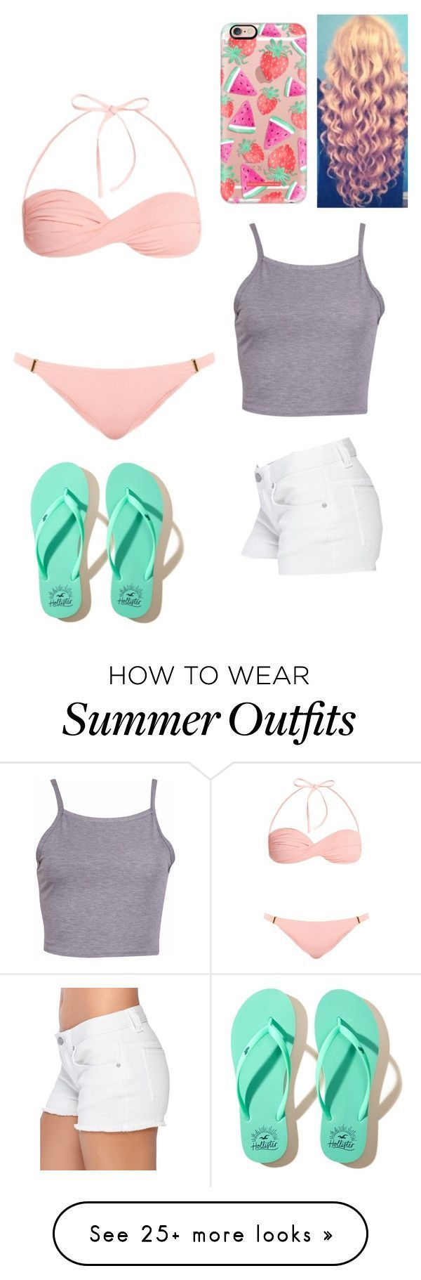 """Summer Outfits : """"Beach/boardwalk outfit made by @xoxamandalou """" by caka-1 on Polyvore featuring … – Fashion Inspire 