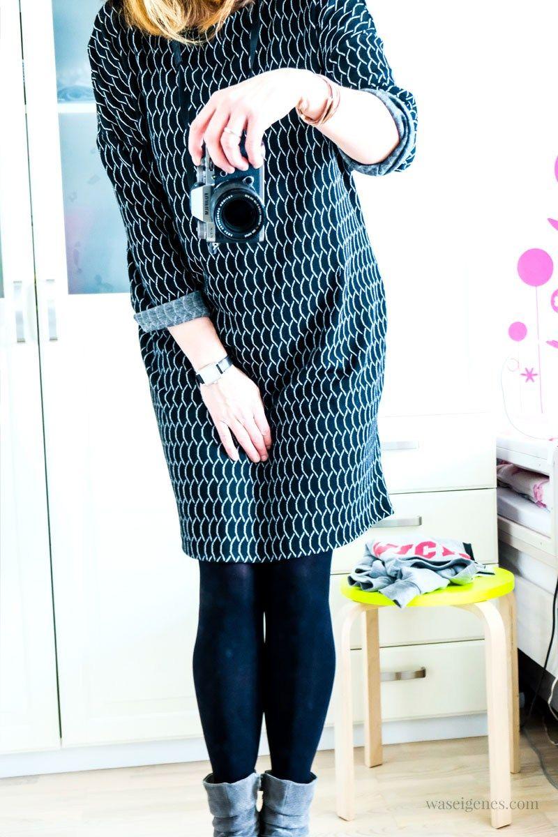 Mein erstes selbst genähtes Kleid. Sitzt, wackelt und hat Luft ...