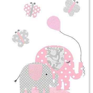Pink And Gray Elephant Nursery Decor Erflies S Room