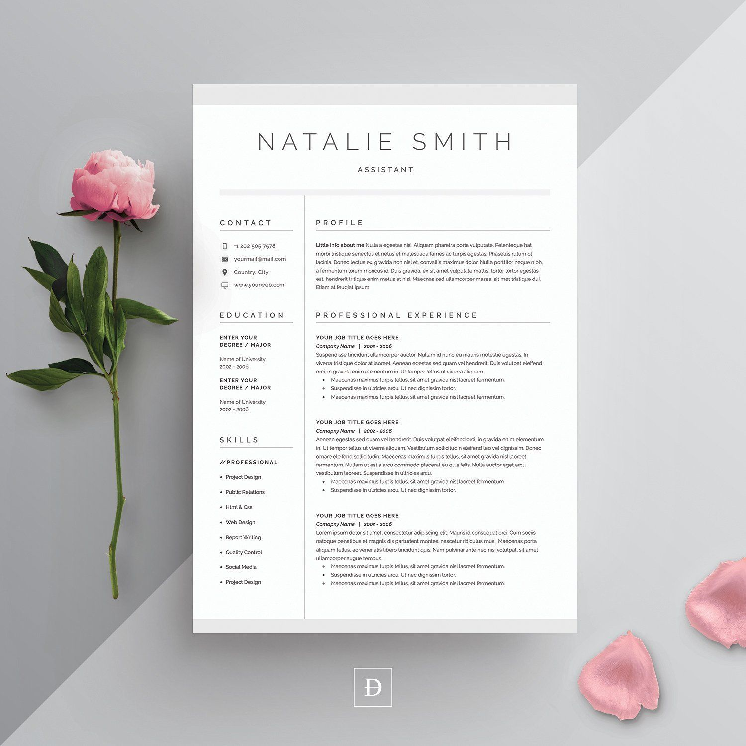 Cv template Word Resume u0026 Cover Letter