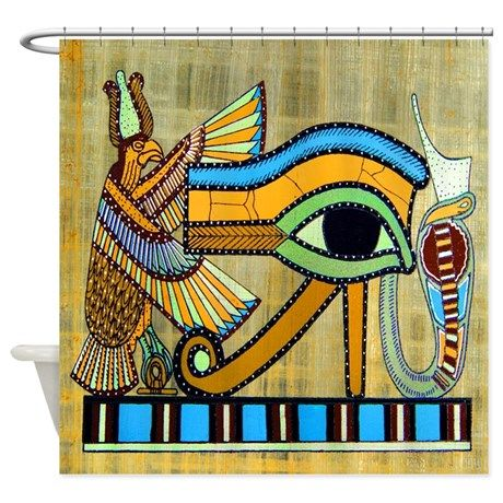 Egyptian Eye Shower Curtain By Thegoodlife Egyptian Design