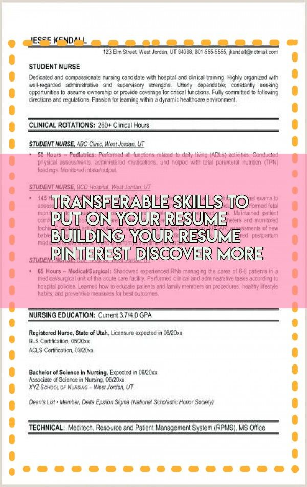 Transferable Skills To Put On Your Resume Building Your Resume Pinterest Discover More Resume Examples Build Your Resume Resume
