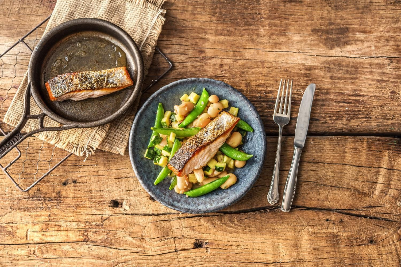 Blue apron zucchini salad - Slammin Lemon Salmon With Warm Butter Bean And Zucchini Salad