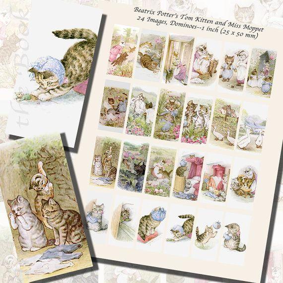 Beatrix Potter's Tom Kitten Miss Moppet by imagesbythebook on Etsy