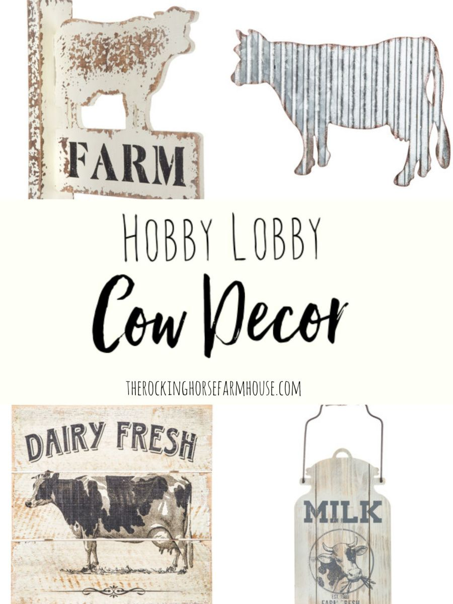 Hobby Lobby Cow Decor