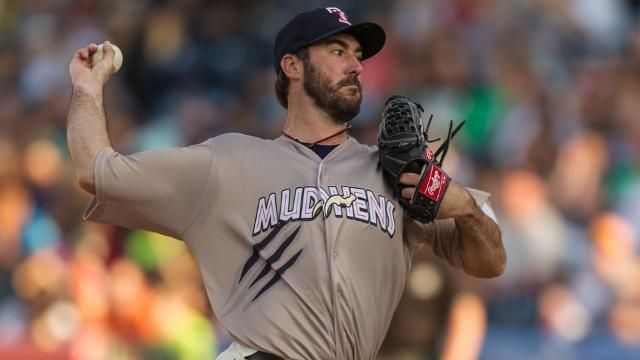 Detroit Tigers Ace Justin Verlander Strikes Out Nine In Second Rehab Start For Toledo Mud Hens Milb Com Toledo Mud Hens Minor League Baseball Detroit Tigers