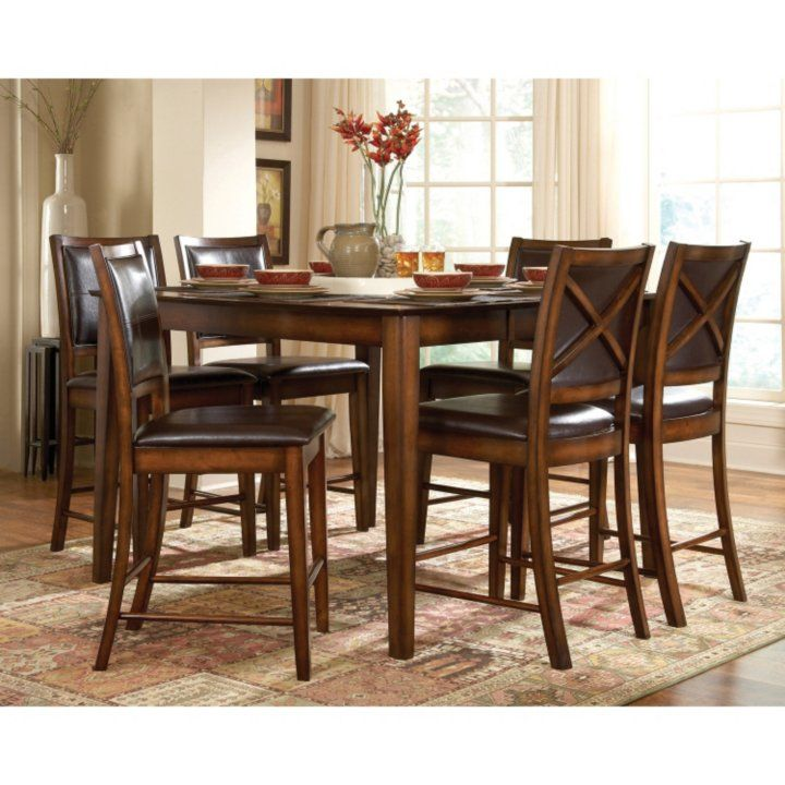 Paladin Dining Set 7 Pc Counter Height Dining Sets Counter Height Table Sets Dining Room Sets