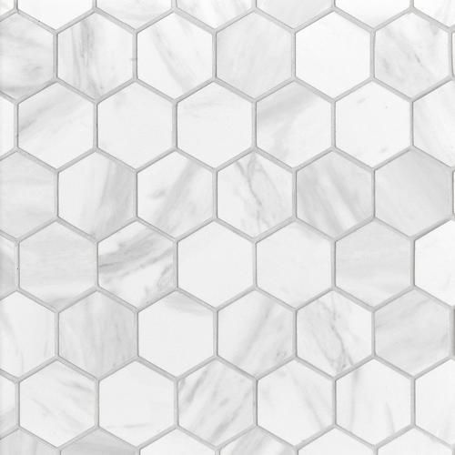 Volakas Polished Hexagon Porcelain Mosaic Bathroom Floor Tiles Tile Bathroom Hexagon Tile Bathroom