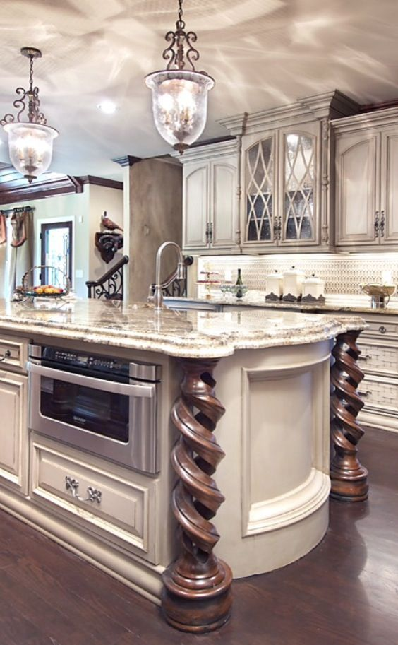 Best kitchen design in French Country style with marble ...