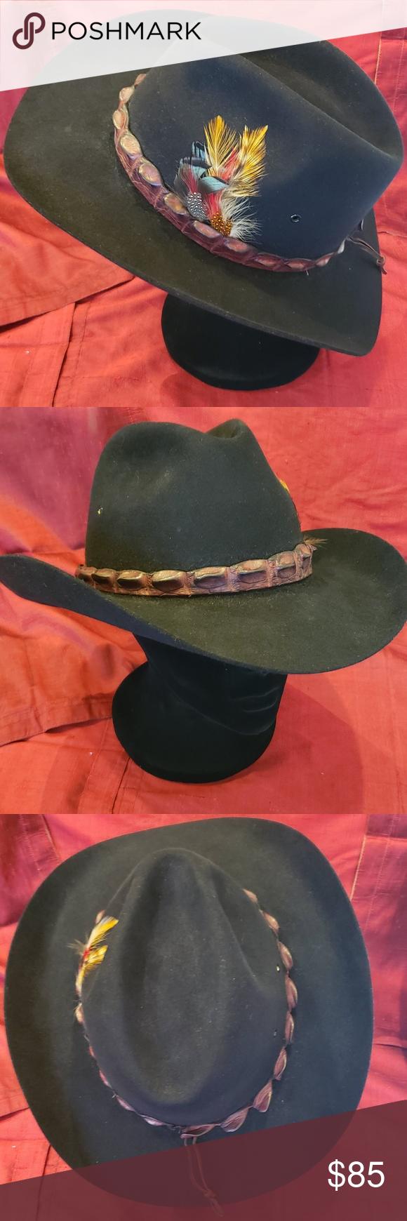 Akubra Coolabah Australian Cowboy Hat Croc Band Cowboy Hats Australian Cowboy Hat Akubra