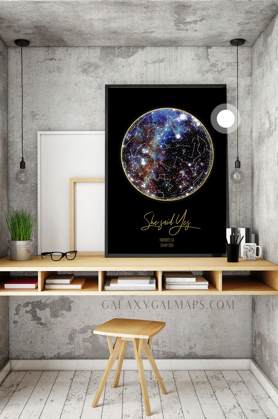 Unique sky map for your date romantic gift wall art motherus day