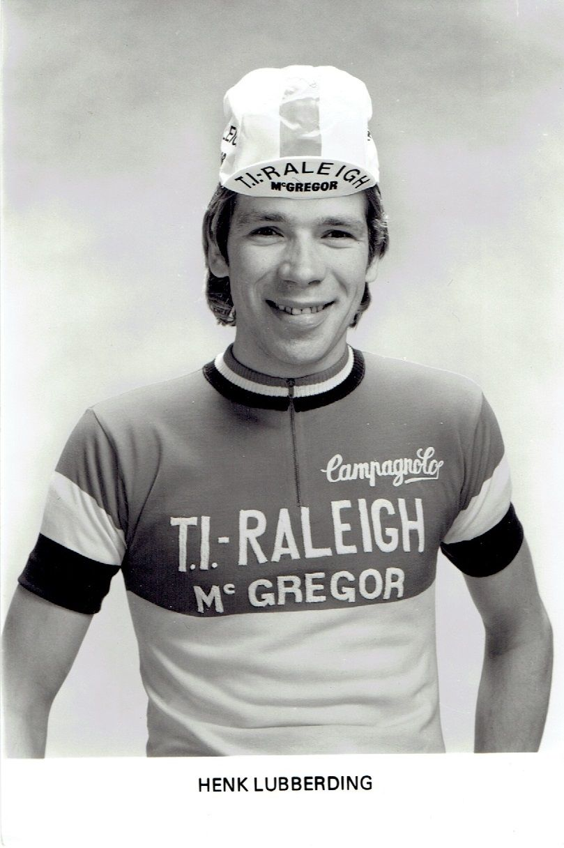 Henk Lubberding. Fotokaart TI Raleigh - McGregor 1979. In nationale driekleur.