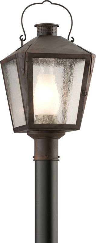 View the Troy Lighting P3764 Nantucket 1 Light Post Light with Seedy Glass at LightingDirect.com.