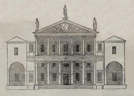 Palladian House Design 3rd dwg from  The Four Books  by Palladio. Palladian House Design 3rd dwg from  The Four Books  by Palladio