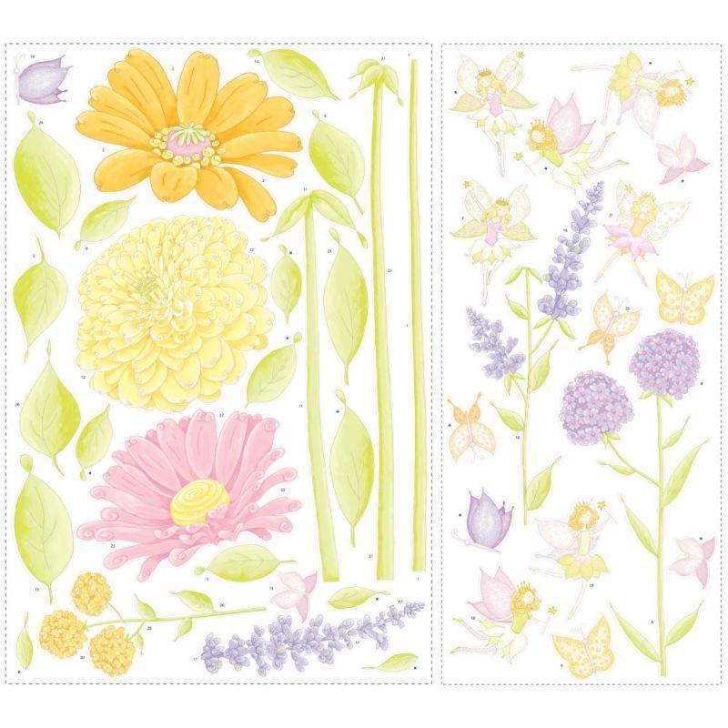 York Wallcoverings RMK1435SLM RoomMates Fairy Garden Peel & Stick ...