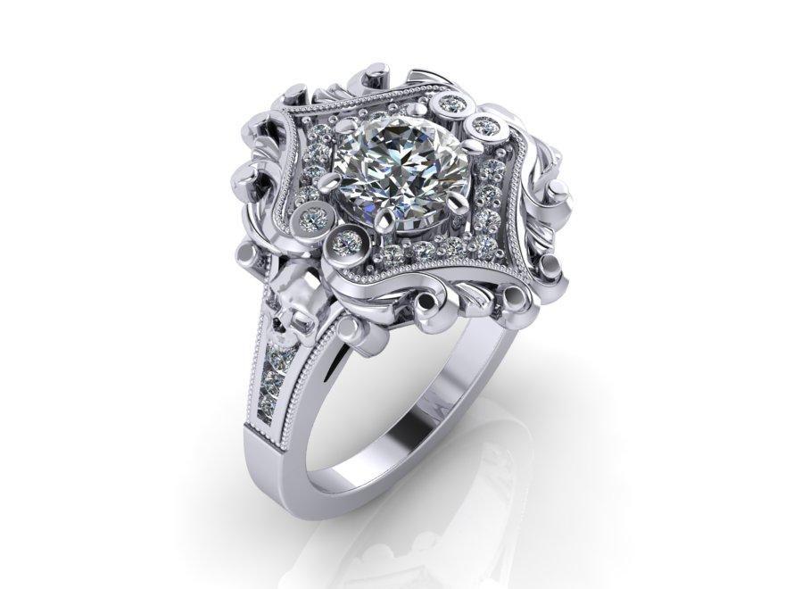 Secret Skull Engagement Ring Udinc0653 Skull Engagement Ring