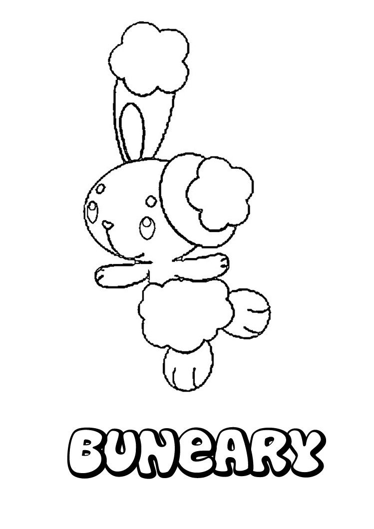 Buneary Coloring Pages Coloring Pages Pokemon Coloring Pokemon