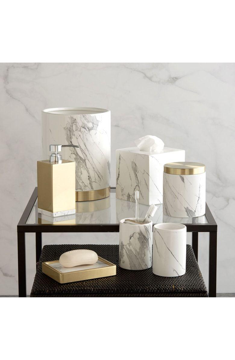 Dkny Mixed Media Tissue Box Cover Bathroom Accessories Luxury