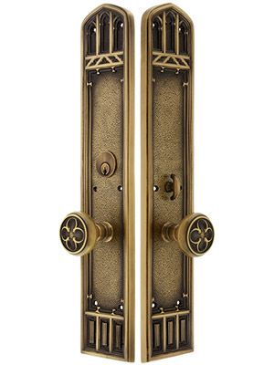 Oxford Mortise Entry Door Set With Oxford Knobs Oxfords Entry