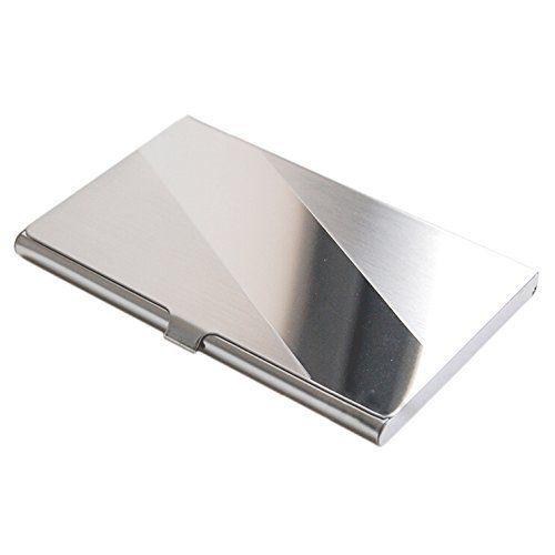 SODIALR Acier Inox Aluminium Etui Boite Boitier Commercial Porte - Porte carte aluminium
