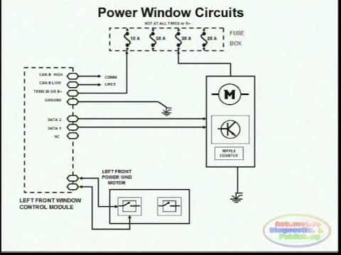 Toyota Power Windows Circuit 3 Windows Diagram Power