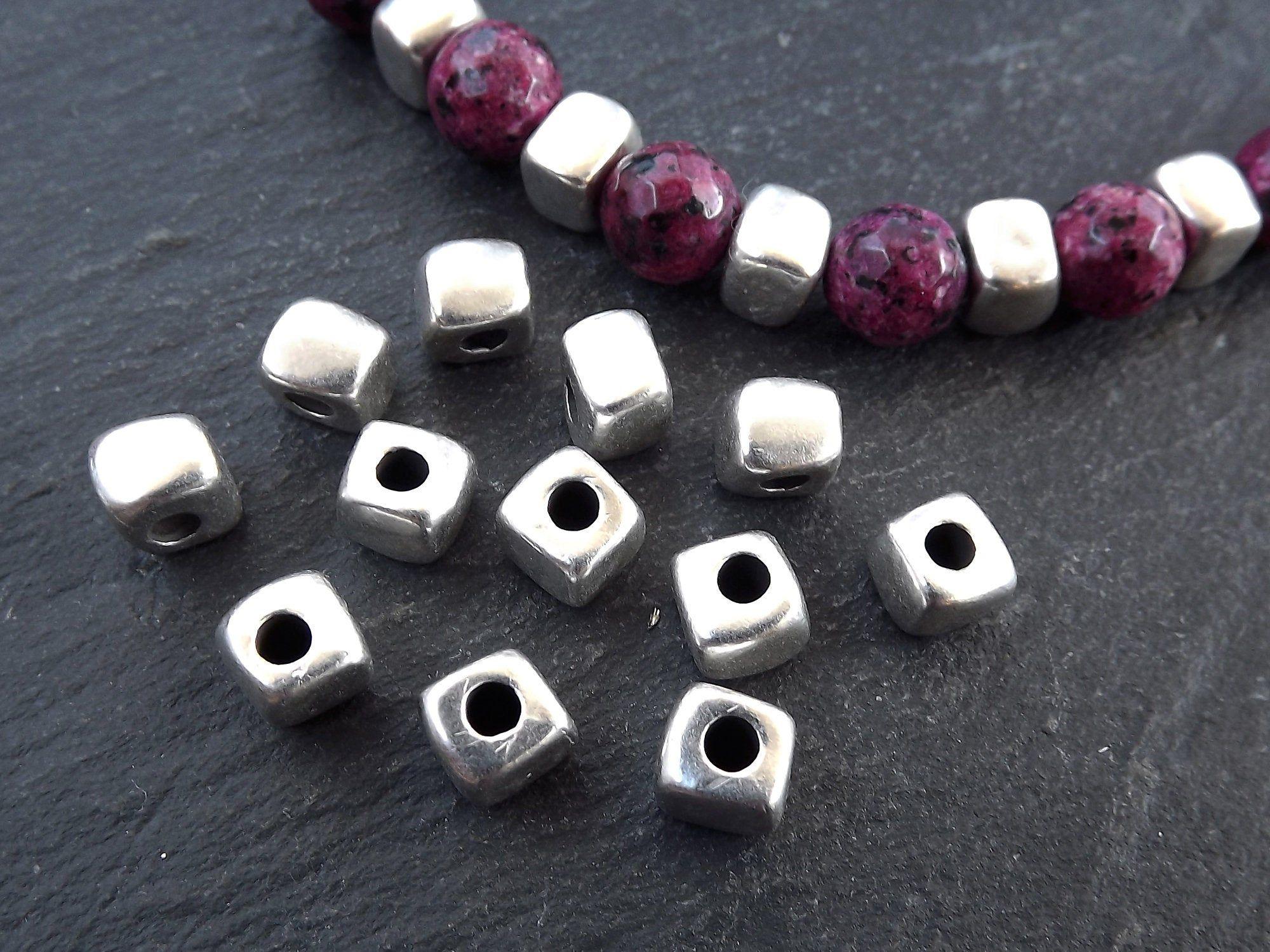 Matte White Flat Ring Beads Matte White Round Czech Glass Beads White O Beads...