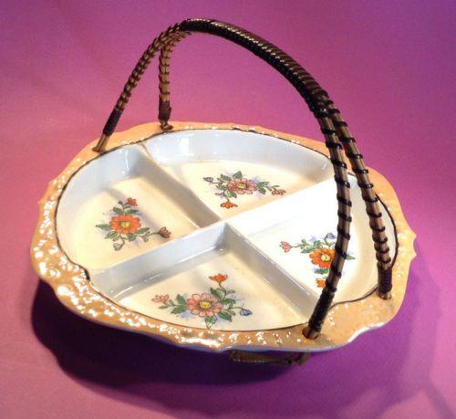 Moriyama-Hand-Painted-Divided-Dish-With-Rattan-Handle-Circa-1926-1950-Japan