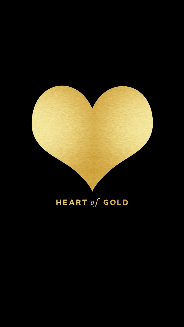 Black white stripes gold heart love iphone phone background ...