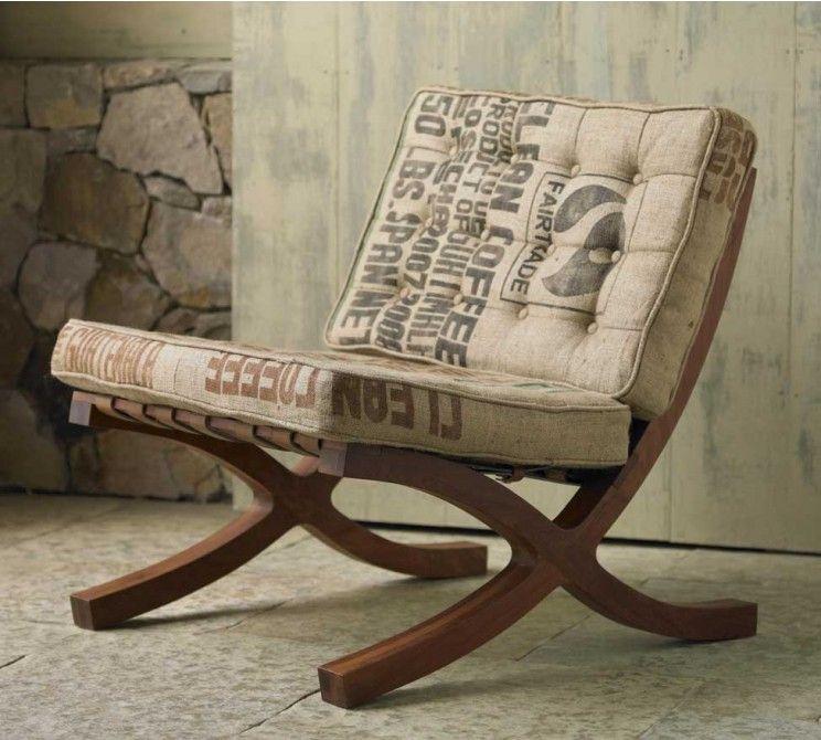 Burlap Sack Upholstery   Unexpectedly Beautiful! Butaca Chair   VivaTerra