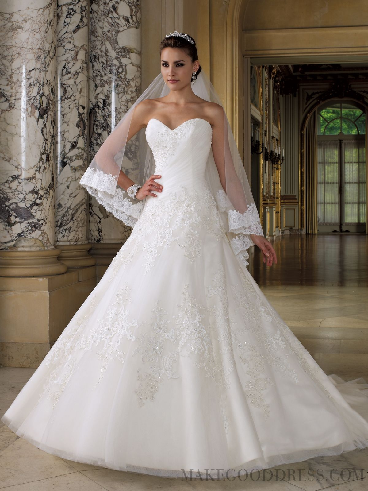 amazing appliques sweetheart cathedral train wedding dresses