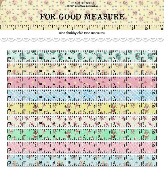 graphic regarding Measure Tape Printable named Evaluate Tape Printable Ruler Craft Recommendations Shabby stylish artwork