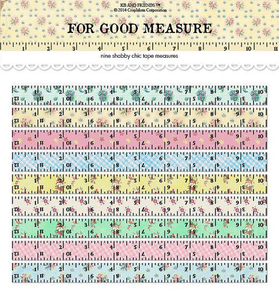 photo regarding Tape Measure Printable titled Evaluate Tape Printable Ruler Craft Plans Shabby stylish artwork