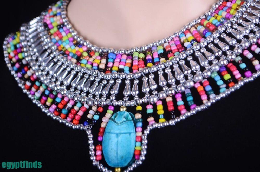 Amazing Egyptian Scarab Cleopatra Necklace Costume SALE LOWEST PRICES & Amazing Egyptian Scarab Cleopatra Necklace Costume SALE LOWEST ...