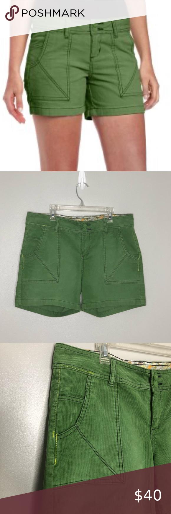 PraNa Suki green corduroy shorts, size 10