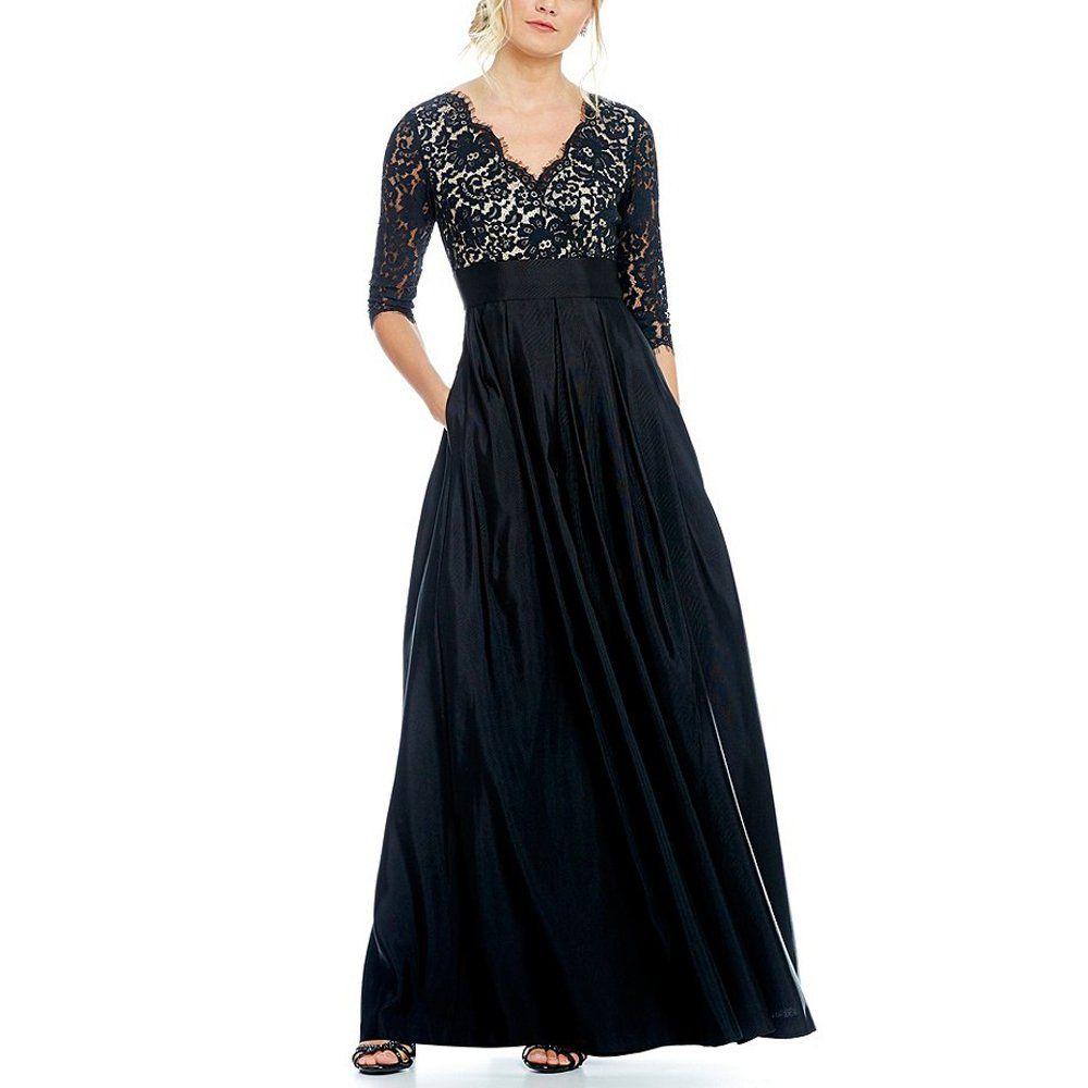 Lampang womenus sleeve evening dresses long lace burgundy prom
