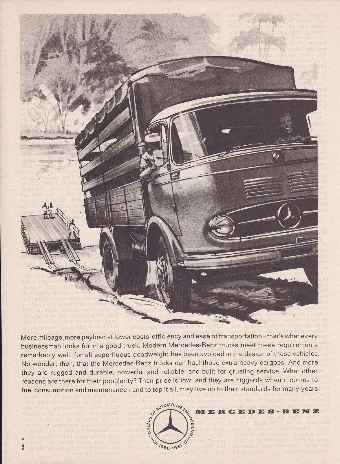 1961 Mercedes Benz Trucks Ad Germany With Images Mercedes