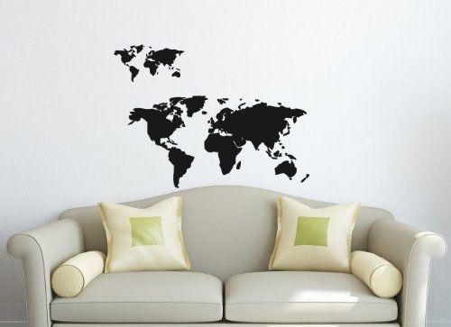 Wall Vinyl Decal Sticker Art Design World Map Room Nice Picture