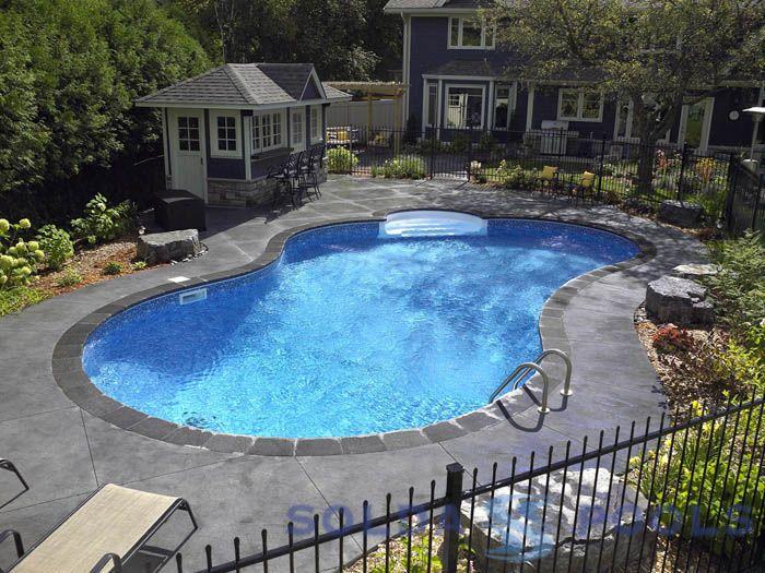 Vinyl Pools Inground Vinyl Pools Pools Pool Landscaping Backyard Pool Landscaping Vinyl