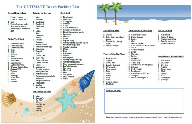 The Ultimate Family Beach Vacation Packing List And Printable Beach Vacation Packing List Beach Vacation Packing Family Beach Vacation