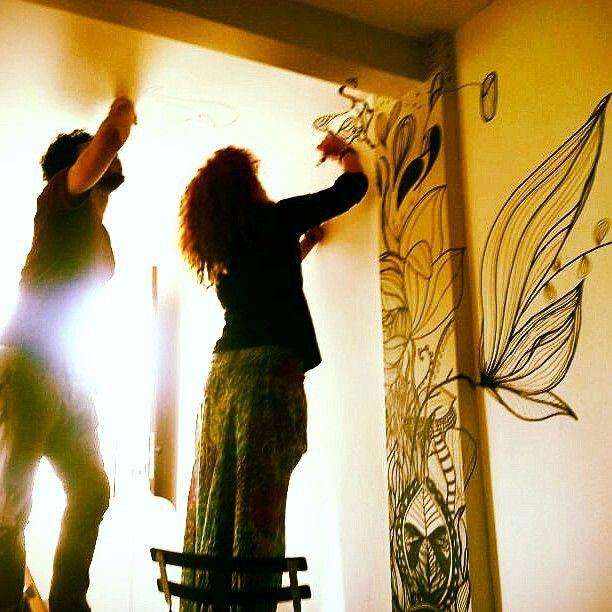 @Leslie Renee Ostos -Mural -Wall Painting. Only markers. Caracas-Venezuela.