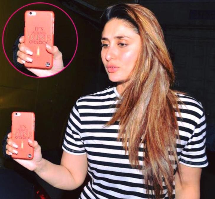 Kareena Kapoor Using The Wine O Clock Nutcase Iphone Cover Kareena Kapoor Photos Kareena Kapoor Khan Karena Kapoor