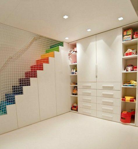 kinder schlafzimmer design ideen in weiß netz als trennwand - schlafzimmer ideen in wei