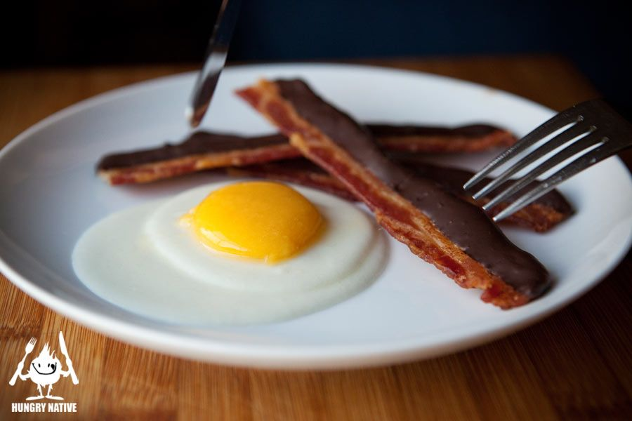 Molecular gastronomy re imagined dessert bacon and eggs hint it 39 s not really bacon or eggs - Molecular gastronomy cuisine ...