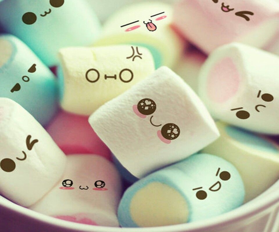 Little Marshmellow faces!!! Cute marshmallows, Cute