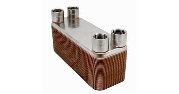 26 plate 3 x 8 brazed plate heat exchanger w 3 4 fnpt. Black Bedroom Furniture Sets. Home Design Ideas
