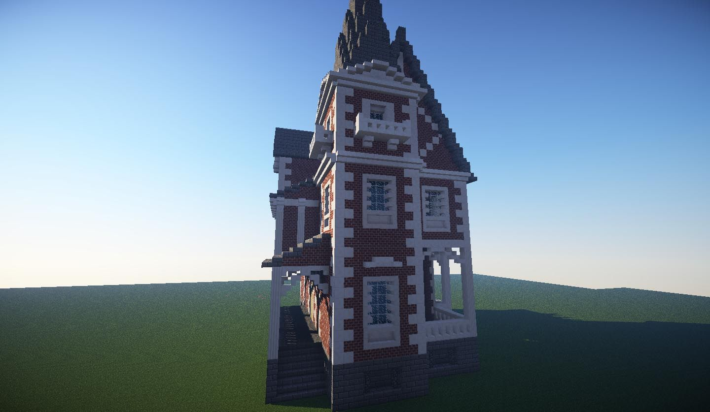 The Old Ladies House Brick Minecraft House Design espacio