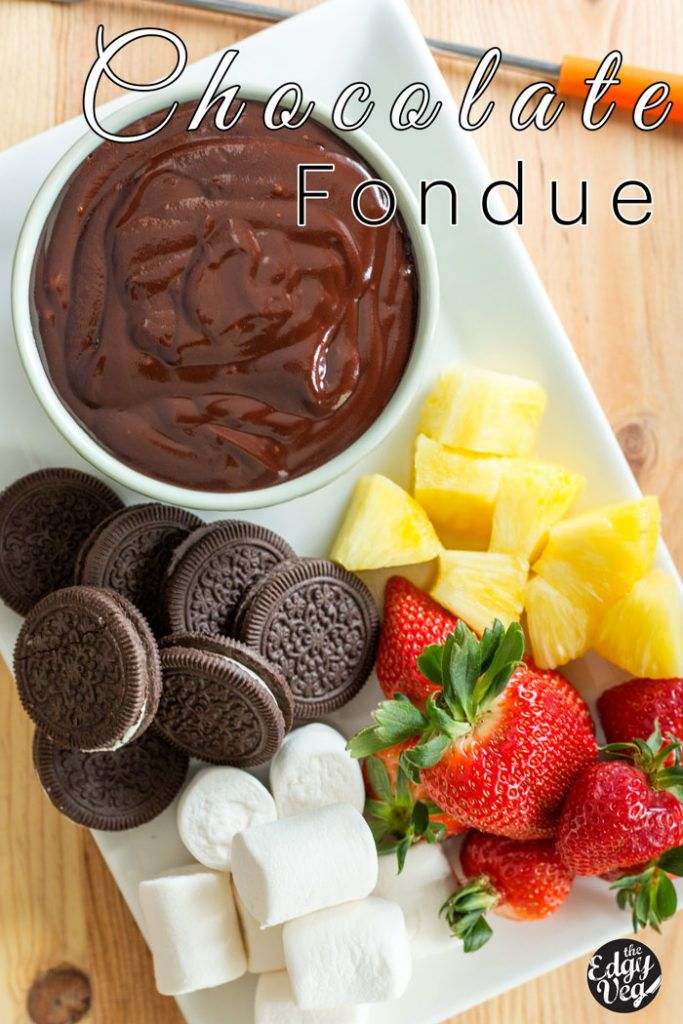 2 ingredient Vegan Chocolate Fondue #chocolatefonduerecipes
