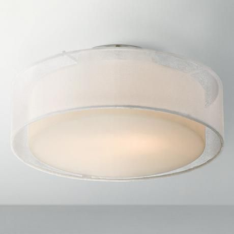Opal White Dual Shade 12 1 2 Wide Drum Ceiling Light In 2020 Ceiling Lights Drum Ceiling Lights Flush Ceiling Lights