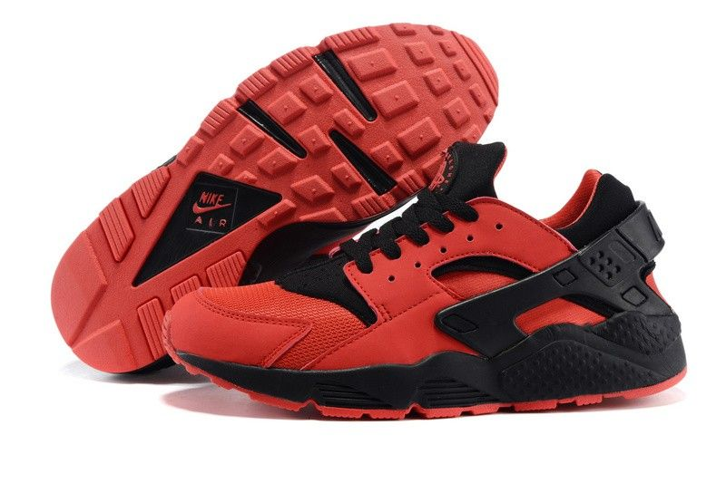 Men Nike Air Huarache Run 700878-600 Love/Hate Pack University Red/Black